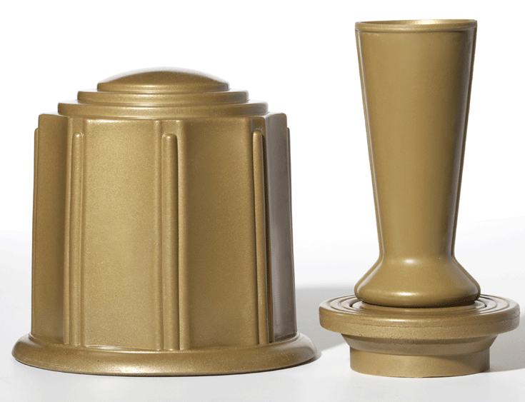 ForeverSafe™ Bronze Cremation Burial Urn and Vase Canister Set