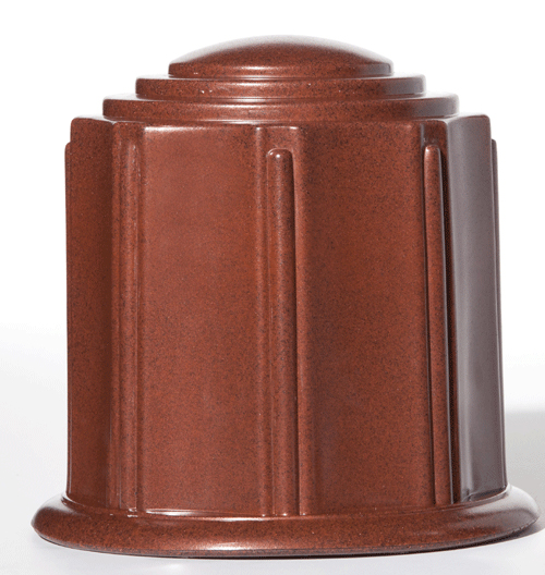 Terra Cotta Granite Urn, Cremation Urn