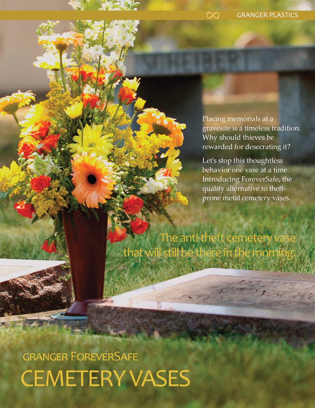 Cemetery Vases Memorial Vases Replacement Vases Cemetery Flower Vases Theft Deterrent Cemetery Vases